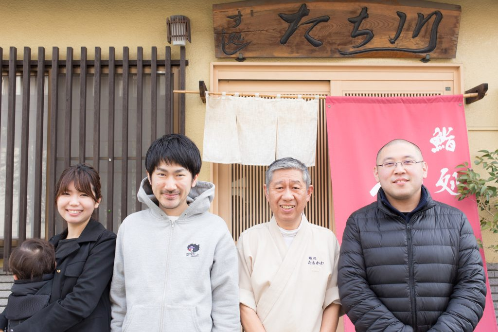 右から、島崎義堂くん、太刀川滋さん、大島俊映、睦美
