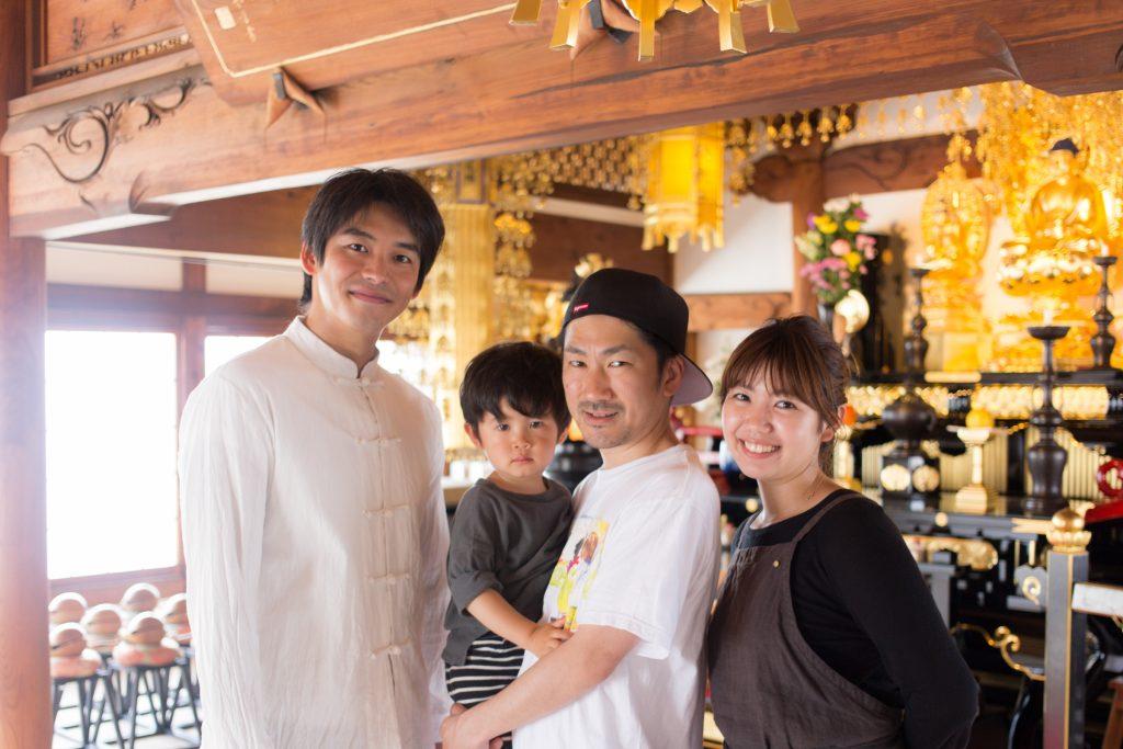 左から、茂木慧太さん、大島俊映、睦美