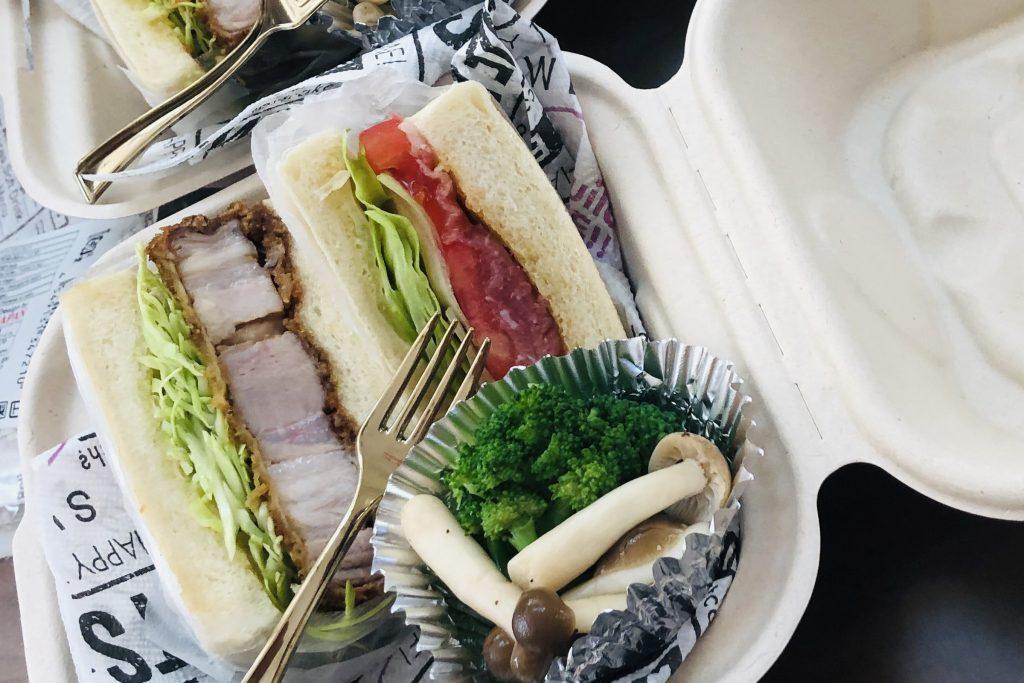 「narrow cafe」 のサンドイッチ