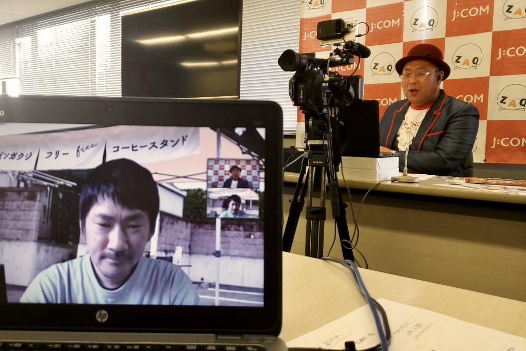 インタビュアーの木曽さんちゅうさん、収録の様子