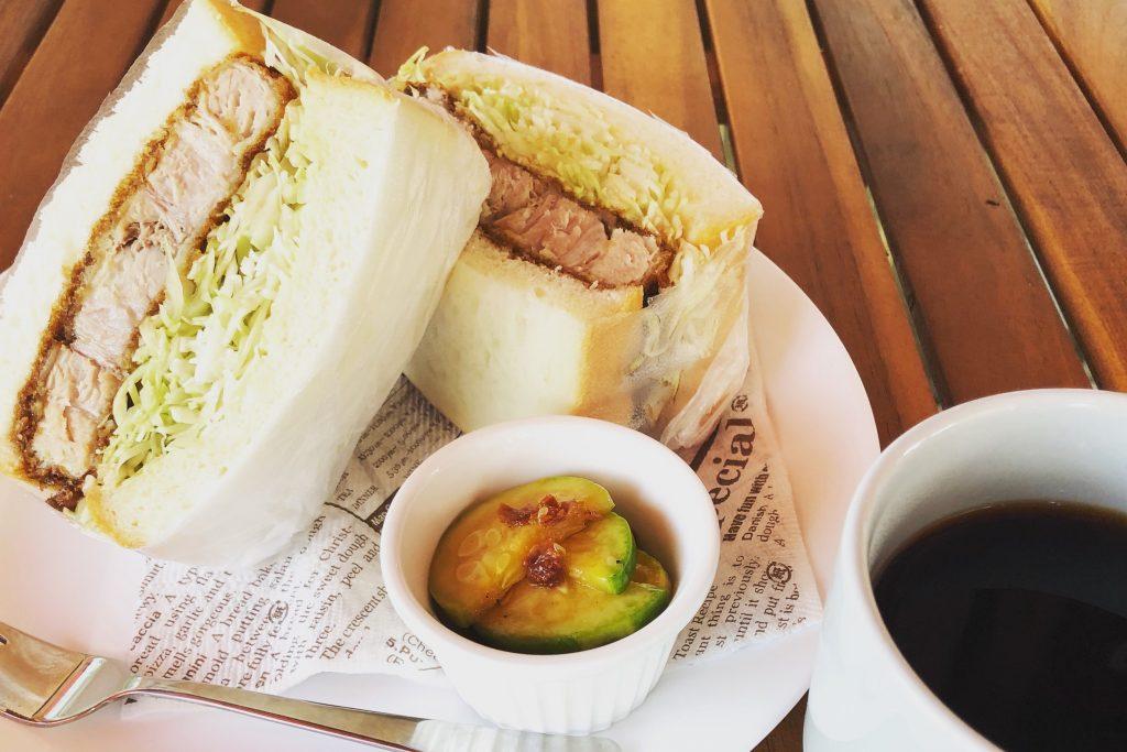 「narrow cafe」のカツサンド
