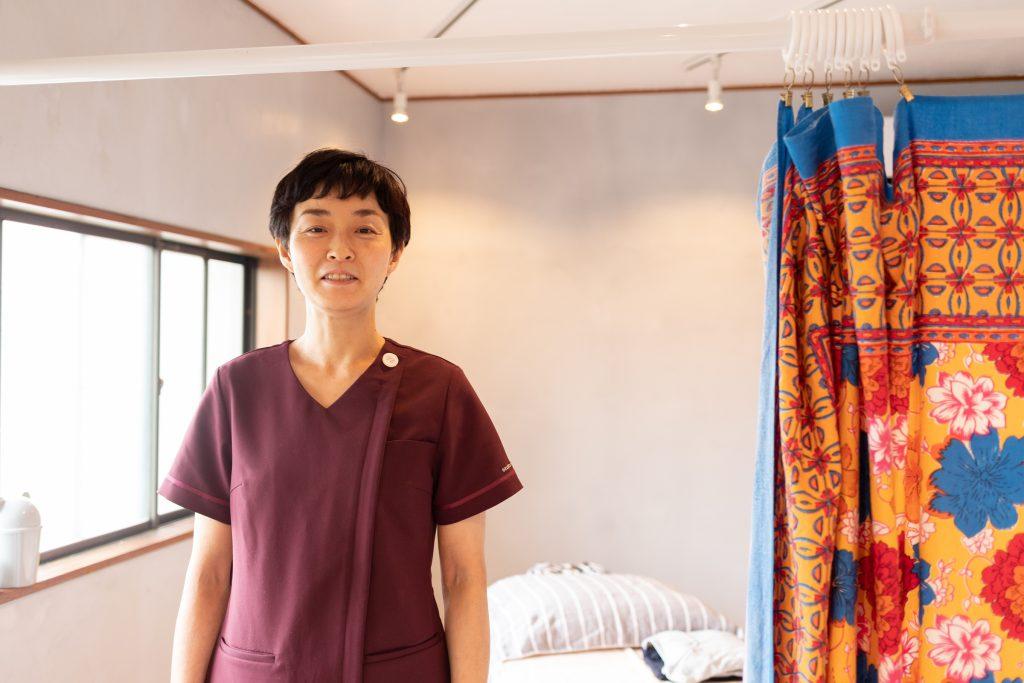 「田中治療院」鍼灸あん摩マッサージ指圧師の田中裕子さん